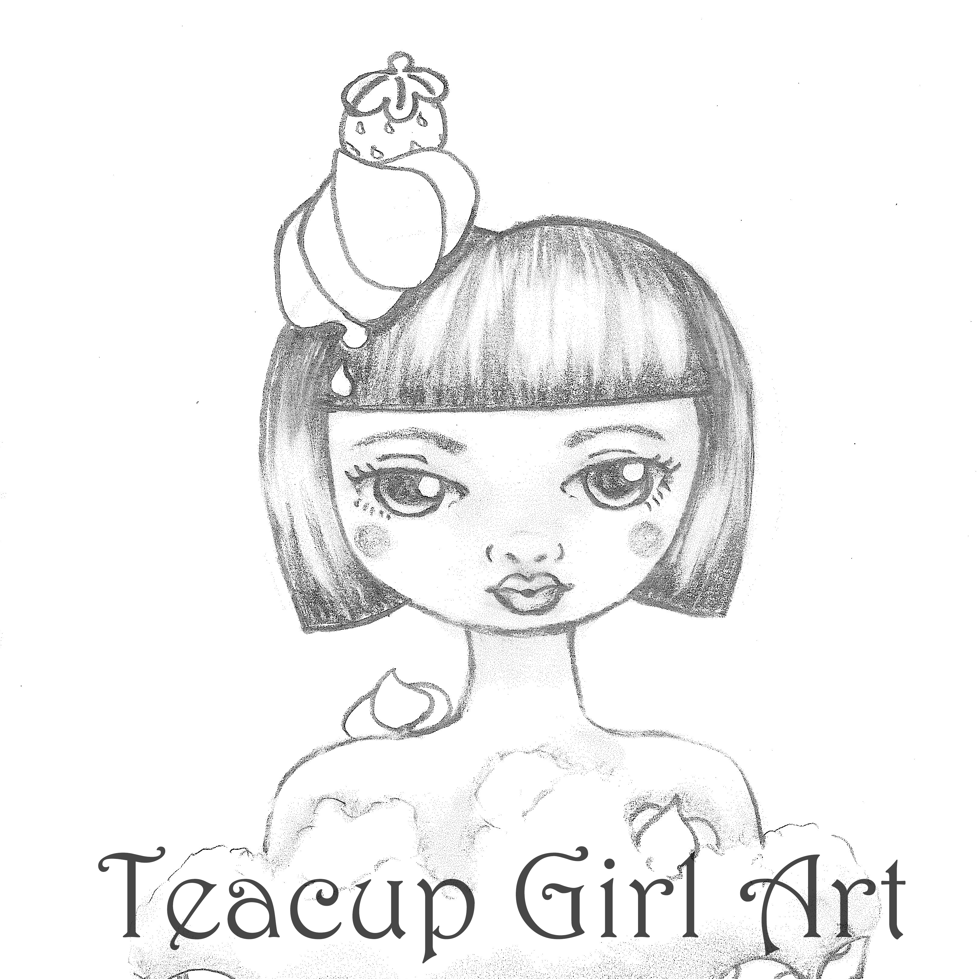 Teacup Girl Art